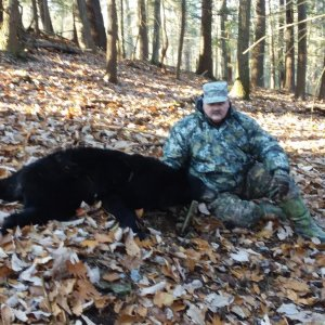 Nov 2019 - After nearly 40yrs of hunting... dad's first bear.. and with a crossbow to boot